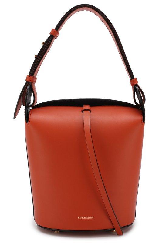 Купить Сумка Bucket Burberry, 4072931, Италия, Оранжевый, Кожа: 100%;