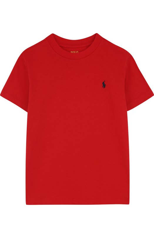 Купить 323674984, Хлопковая футболка Polo Ralph Lauren, Гватемала, Красный, Хлопок: 100%;, Мужской, Футболки