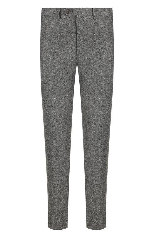 Купить Шерстяные брюки прямого кроя Brioni, RPL810/06AAF/MEGEVE, Италия, Серый, Шерсть: 100%;