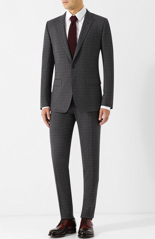 Шерстяной костюм с однобортным пиджаком Dolce & Gabbana
