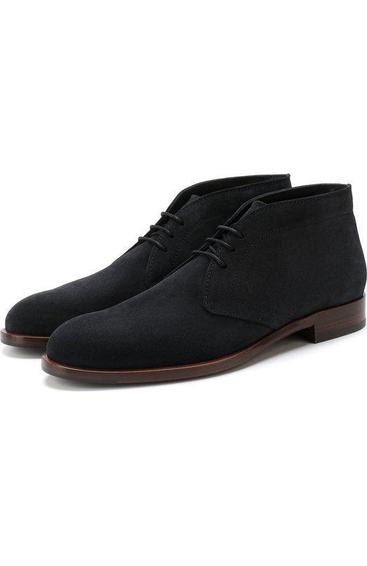 Высокие кожаные ботинки на шнуровке Tod's