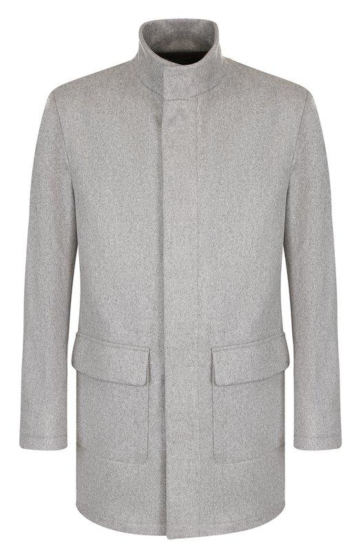 Кашемировое пальто на молнии с воротником-стойкой Kiton