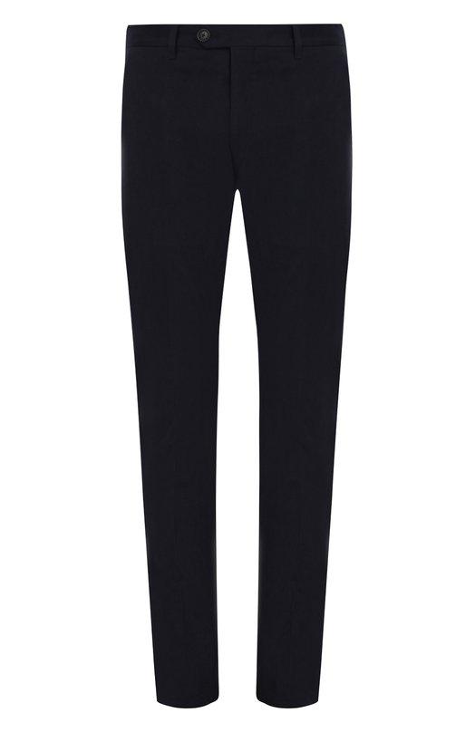 Купить Хлопковые брюки прямого кроя Emporio Armani, 11P150/11525, Болгария, Темно-синий, Хлопок: 98%; Эластан: 2%;
