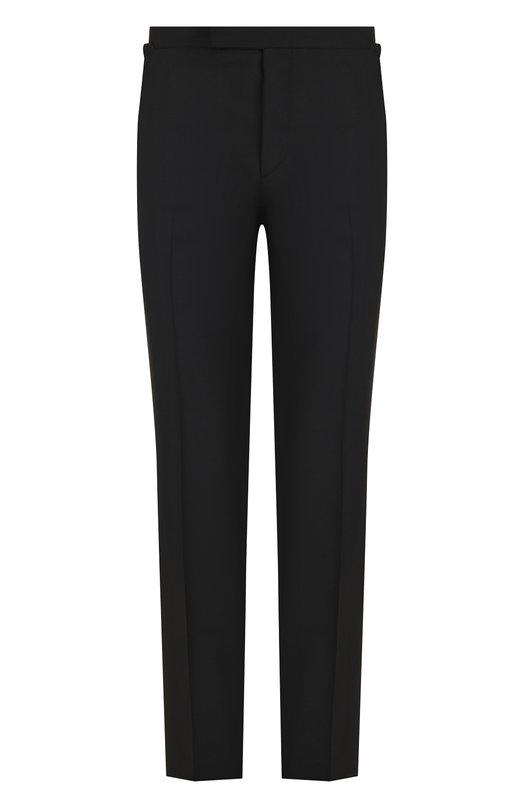 Купить Шерстяные брюки прямого кроя Tom Ford, 422R12/610043, Италия, Черный, Шерсть: 100%;