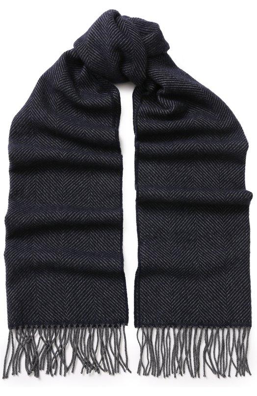 Кашемировый шарф с бахромой Brioni