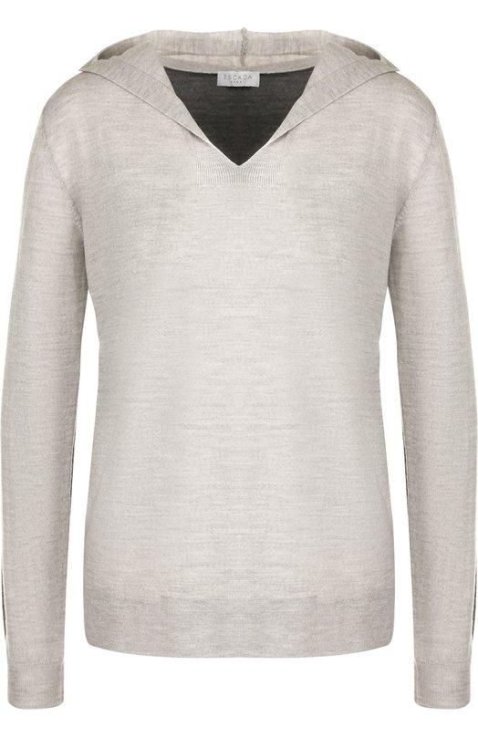 Шерстяной пуловер с капюшоном Escada Sport