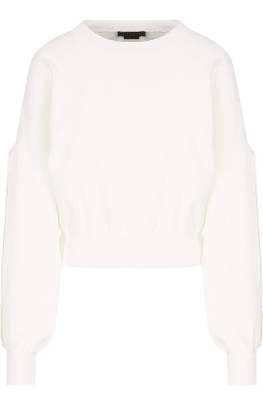 Купить Однотонный пуловер с круглым вырезом Alice + Olivia, CB806526720, Китай, Белый, Вискоза: 72%; Полиэстер: 28%;
