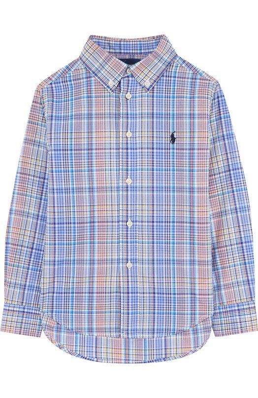 Купить 322692181, Хлопковая рубашка с воротником button down Ralph Lauren, Индонезия, Разноцветный, Хлопок: 100%;, Мужской, Рубашки