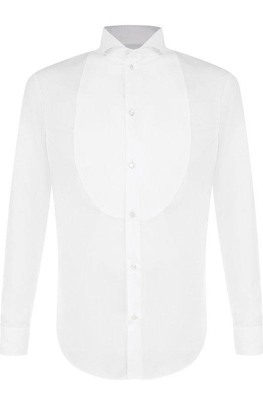 Купить Хлопковая сорочка с воротником бабочка Emporio Armani, 11C70G/11C29, Тунис, Белый, Хлопок: 100%;