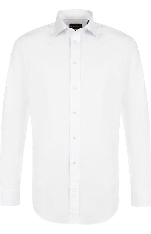 Купить Хлопковая сорочка с воротником кент Emporio Armani, 11CM8L/11BC8, Тунис, Белый, Хлопок: 100%;