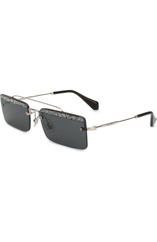 Купить Солнцезащитные очки Miu Miu, 59TS-KJL1A1, Италия, Черный