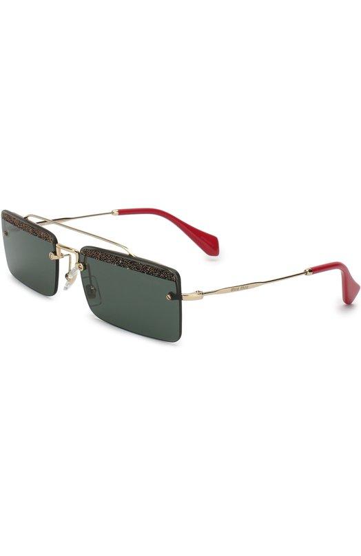 Купить Солнцезащитные очки Miu Miu, 59TS-KI6301, Италия, Темно-серый