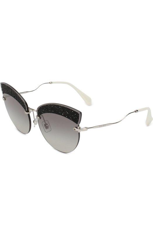 Купить Солнцезащитные очки Miu Miu, 58TS-U983M1, Италия, Светло-серый