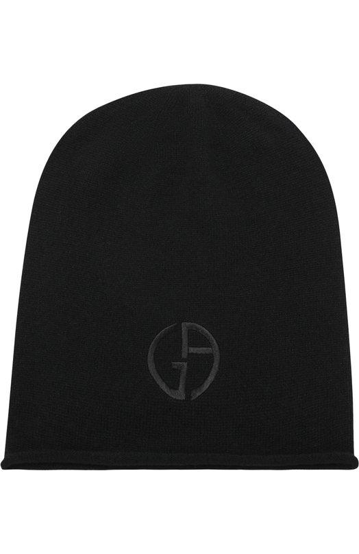 Кашемировая шапка бини Giorgio Armani, 797362/8A502, Италия, Черный, Кашемир: 100%;  - купить