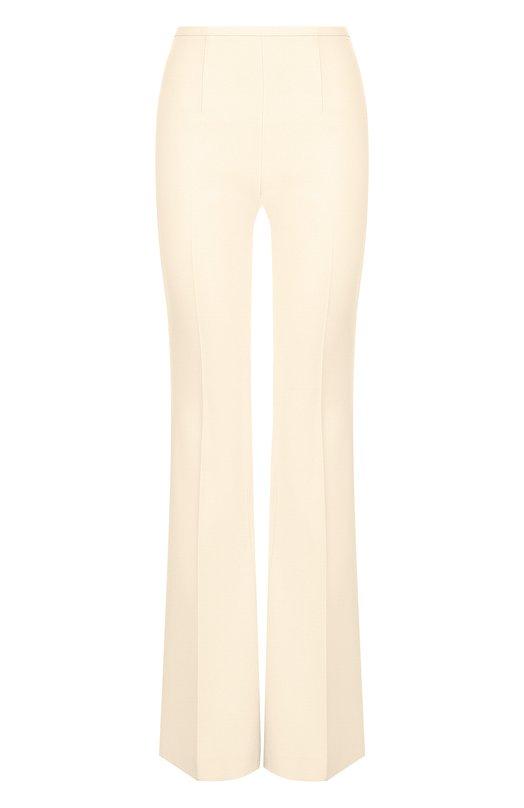 Купить Расклешенные шерстяные брюки со стрелками Michael Kors Collection, MKPL208A/KL004, Италия, Бежевый, Шерсть: 90%; Полиамид: 8%; Эластан: 2%;