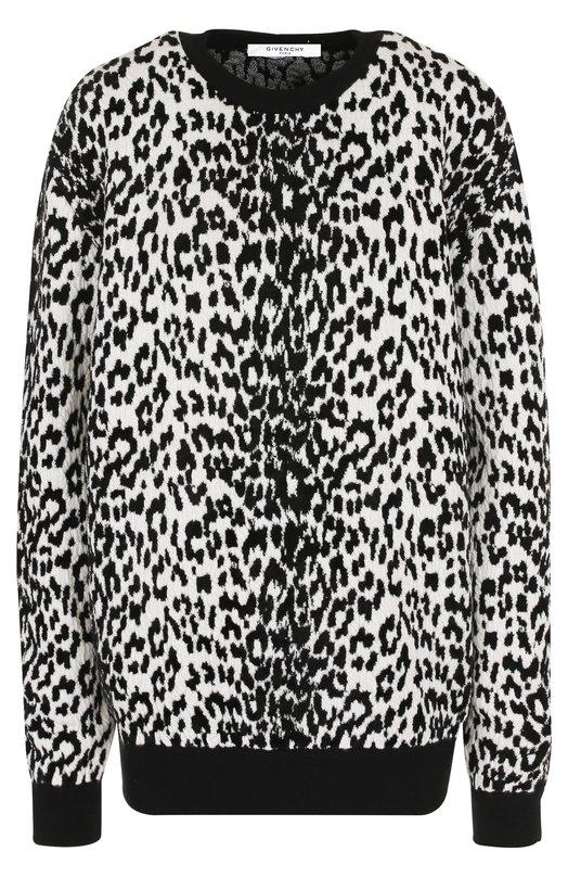 Пуловер из смеси шерсти и вискозы с принтом Givenchy