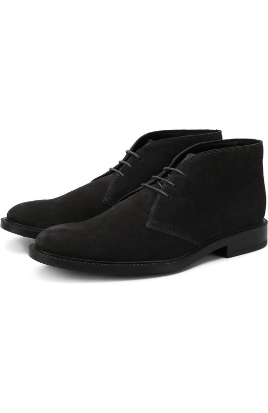 Замшевые ботинки на шнуровке Tod's