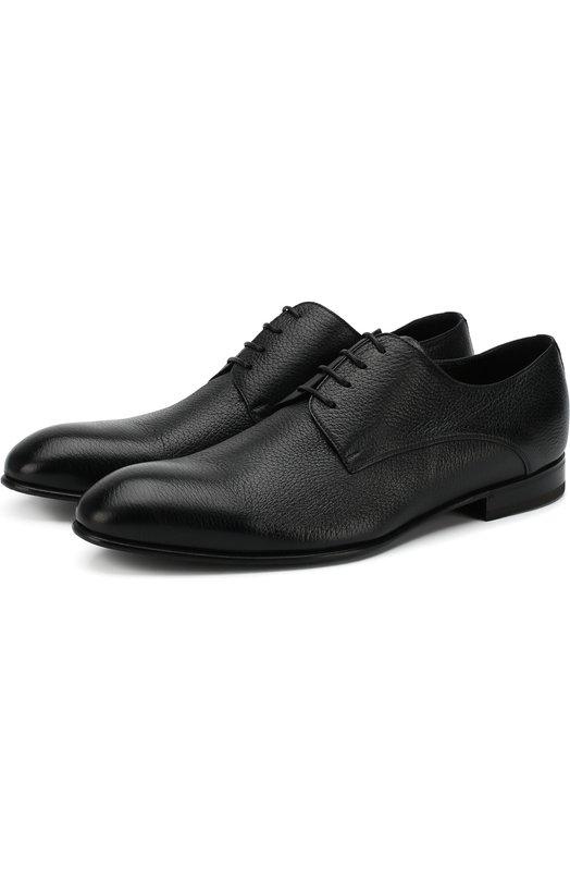 Купить Классические кожаные дерби Barrett, 113U095.4/CERV0, Италия, Черный, Кожа натуральная: 100%; Стелька-кожа: 100%; Подошва-резина: 100%;