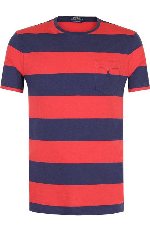 Купить Хлопковая футболка в полоску Polo Ralph Lauren, 710671550, Шри-Ланка, Красный, Хлопок: 100%;