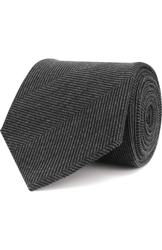 Купить Галстук с узором из смеси шерсти и шелка Brioni, 062I00/07AC9, Италия, Темно-серый, Шерсть: 89%; Шелк: 11%;