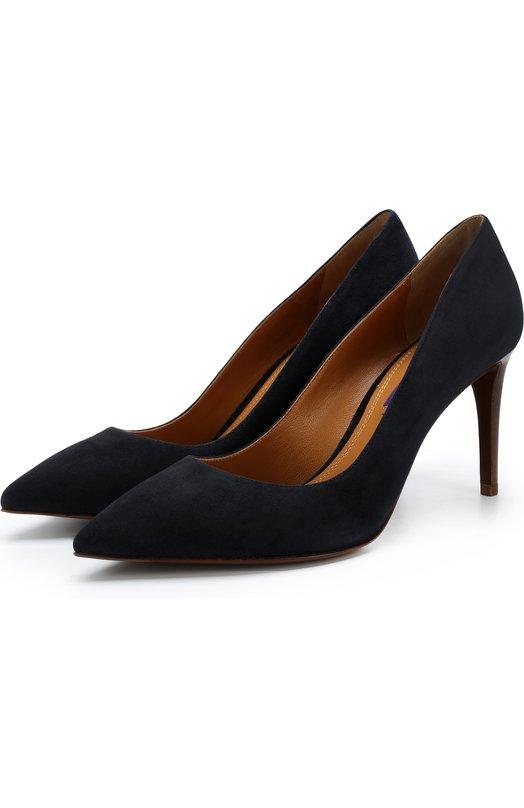 Купить Замшевые туфли на шпильке Ralph Lauren, 800723141, Италия, Синий, Подошва-кожа: 100%; Подкладка-кожа: 100%; Кожа: 100%;