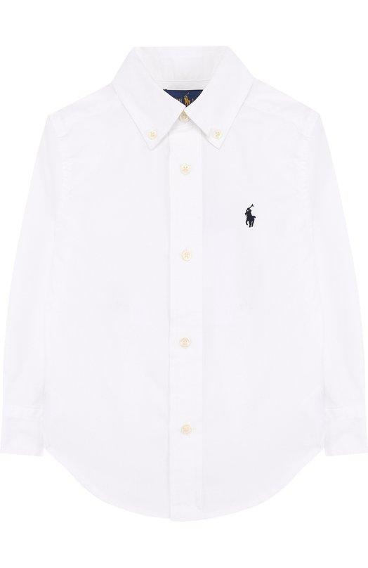 Купить Хлопковая рубашка с воротником button down Ralph Lauren, 321600259, Китай, Белый, Хлопок: 100%;
