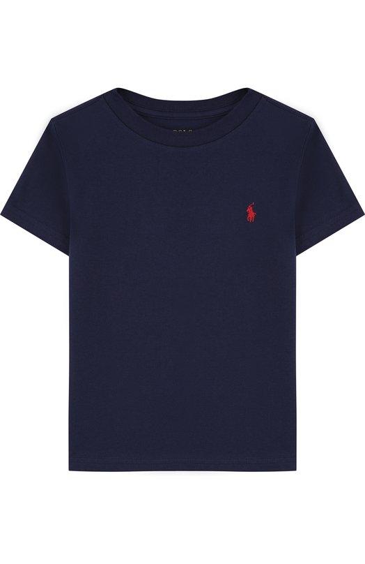 Купить Хлопковая футболка с логотипом бренда Polo Ralph Lauren, 321674984, Гватемала, Темно-синий, Хлопок: 100%;
