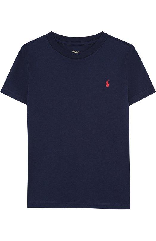 Хлопковая футболка с логотипом бренда Polo Ralph Lauren, 322674984, Гватемала, Темно-синий, Хлопок: 100%;  - купить