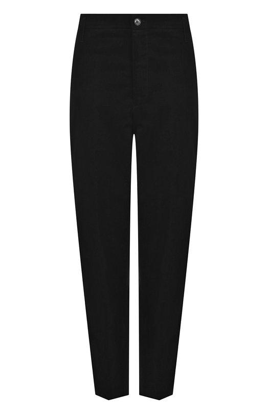 Купить Однотонные укороченные брюки из хлопка Golden Goose Deluxe Brand, G33WP002.A3, Италия, Черный, Хлопок: 100%;