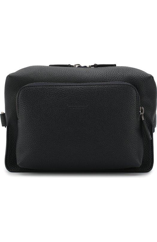 Купить Кожаная поясная сумка Giorgio Armani, Y20094/YDZ0J, Италия, Темно-синий, Кожа: 100%;