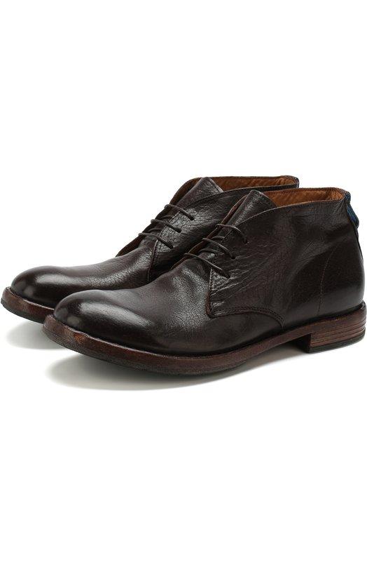 Купить Высокие кожаные ботинки на шнуровке Moma, 56803-2B, Италия, Темно-коричневый, Подошва-кожа: 75%; Подошва-резина: 25%; Подкладка-кожа: 100%; Кожа: 100%;