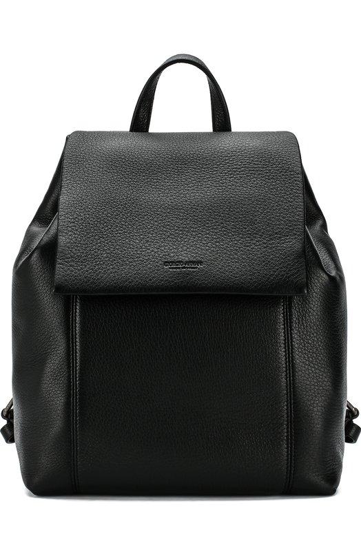 Купить Кожаный рюкзак с клапаном Giorgio Armani, Y20096/YDH4J, Италия, Черный, Кожа: 100%;