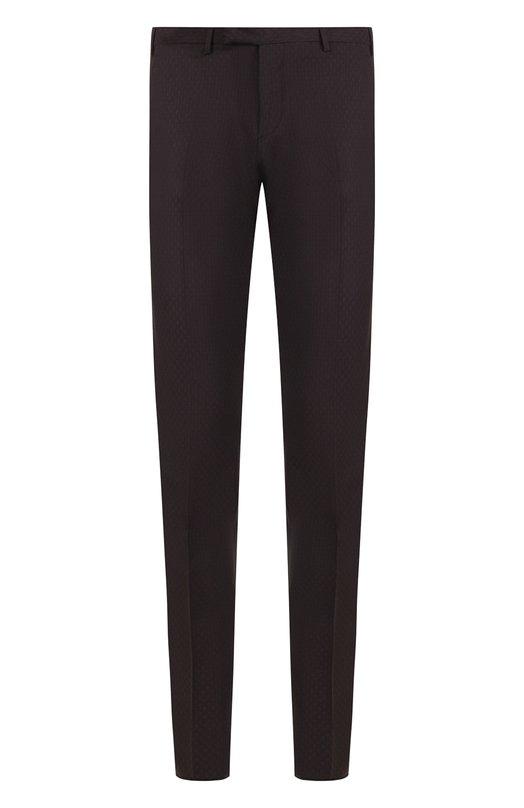 Купить Шерстяные брюки прямого кроя Emporio Armani, 11P0M0/11684, Болгария, Коричневый, Шерсть: 100%;