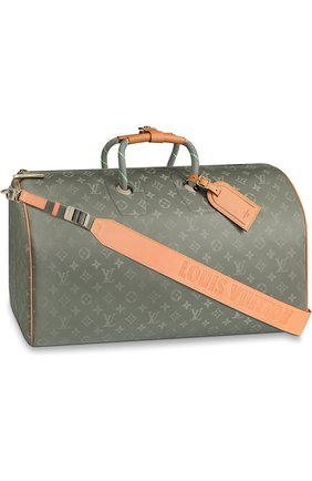 Сумка Keepall Bandouliere Louis Vuitton серая | Фото №1