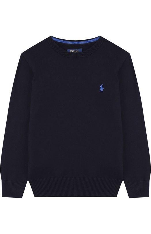 Купить Хлопковый пуловер с логотипом бренда Polo Ralph Lauren, 322690740, Китай, Синий, Хлопок: 100%;
