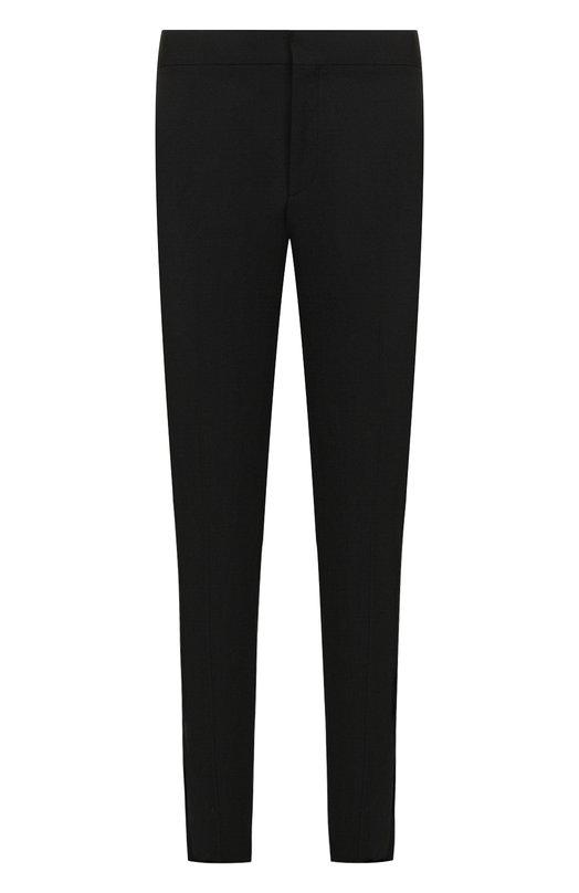 Купить Шерстяные брюки прямого кроя Saint Laurent, 507197/Y512W, Италия, Черный, Шерсть: 100%;