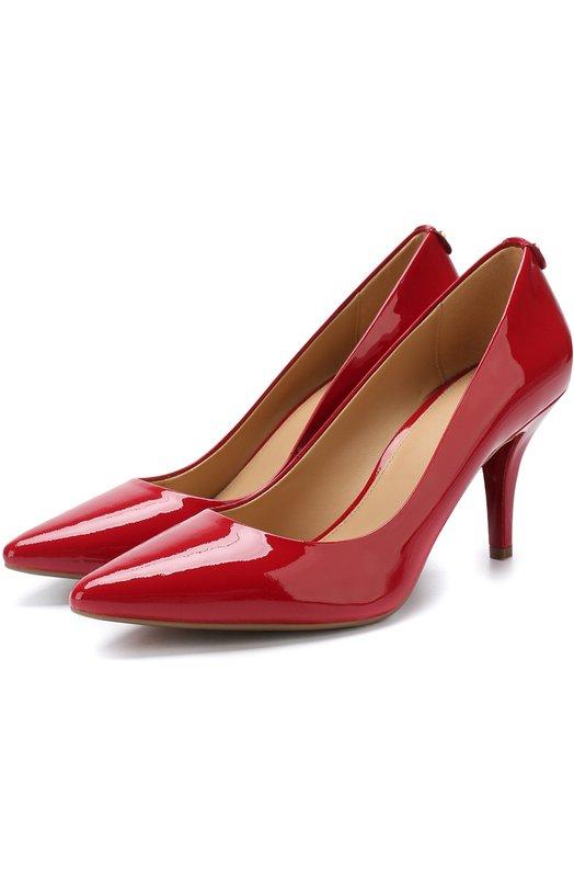 Купить Лаковые туфли Flex на шпильке MICHAEL Michael Kors, 40S1MFMP2A, Вьетнам, Красный, Кожа натуральная: 100%; Стелька-кожа: 100%; Подошва-резина: 100%; Подкладка-кожа: 100%; Кожа: 100%;