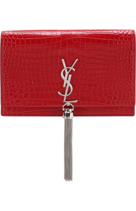 Купить Сумка Monogram Kate с тиснением Saint Laurent, 452159/DND1N, Италия, Красный, Кожа натуральная: 100%;