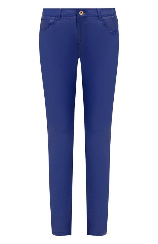 Купить Однотонные кожаные брюки Ralph Lauren, 290713979, Италия, Синий, Кожа: 100%;