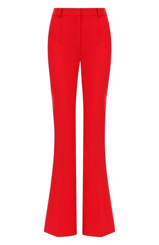 Однотонные расклешенные брюки из шерсти  Michael Kors Collection