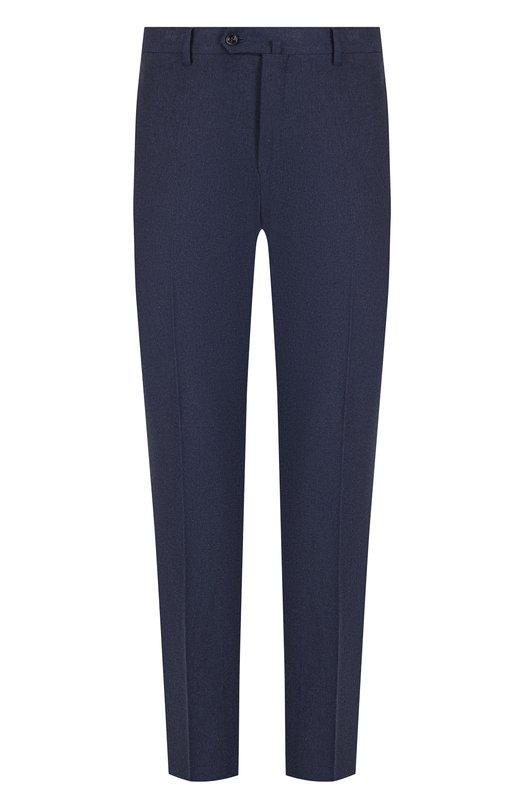 Купить Хлопковые брюки прямого кроя Loro Piana, FAG4236, Италия, Темно-синий, Хлопок: 98%; Эластан: 2%;