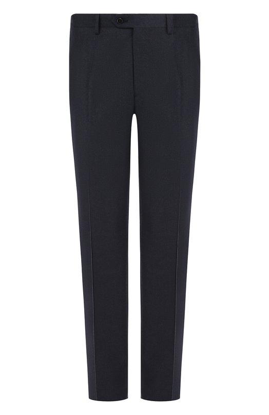 Купить Шерстяные брюки прямого кроя Brioni, RPL21H/0ZA0K/M0ENA, Италия, Темно-синий, Шерсть: 100%;
