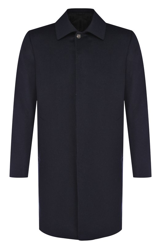 Купить Кашемировое пальто на пуговицах Brioni, R0I00M/07370, Италия, Темно-синий, Кашемир: 100%;