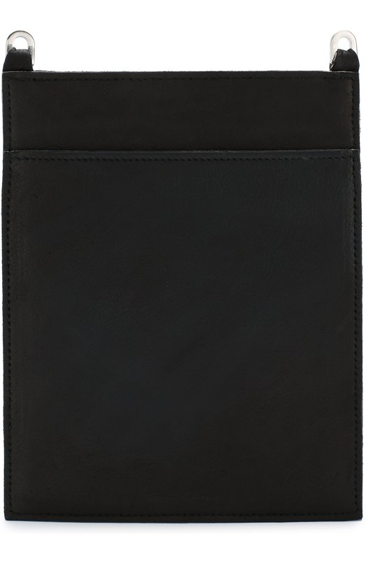 Купить Кожаное портмоне на молнии Rick Owens, RB18F0207/LCW, Италия, Черный, Кожа: 100%;