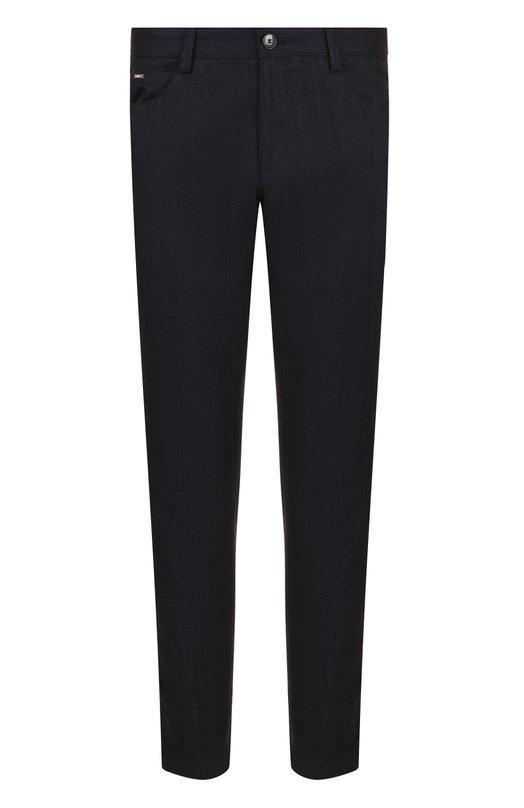 Купить Хлопковые брюки прямого кроя BOSS, 50399053, Румыния, Темно-синий, Хлопок: 100%;