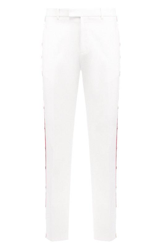 Купить Хлопковые брюки свободного кроя с контрастными лампасами CALVIN KLEIN 205W39NYC, 83MWPA69/C395A, Италия, Белый, Хлопок: 100%;