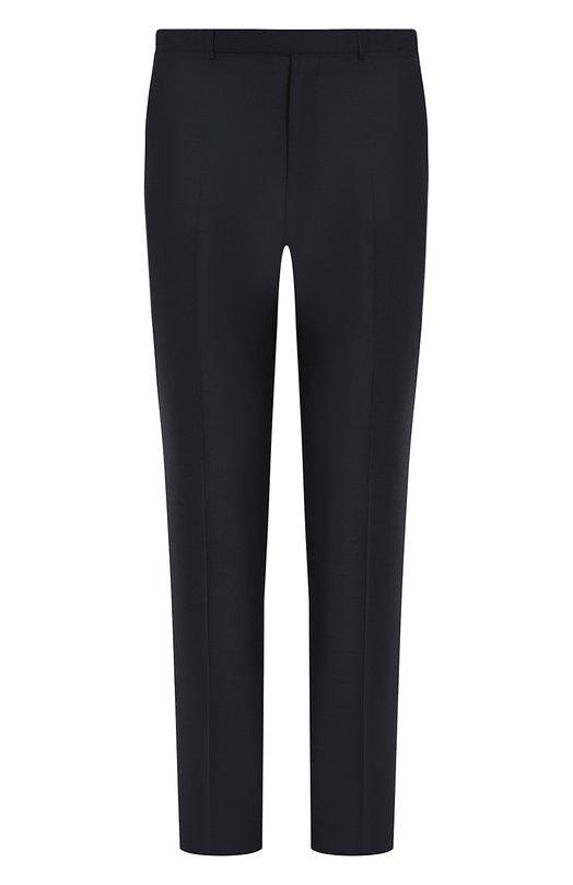 Купить Шерстяные брюки прямого кроя Ermenegildo Zegna, 422F05/75SB12, Португалия, Темно-синий, Шерсть: 100%;
