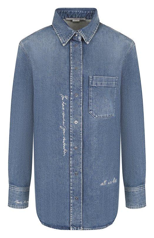 Купить Джинсовая блуза с накладным карманом Stella McCartney, 512795/SLH28, Италия, Синий, Хлопок: 98%; Эластан: 2%;