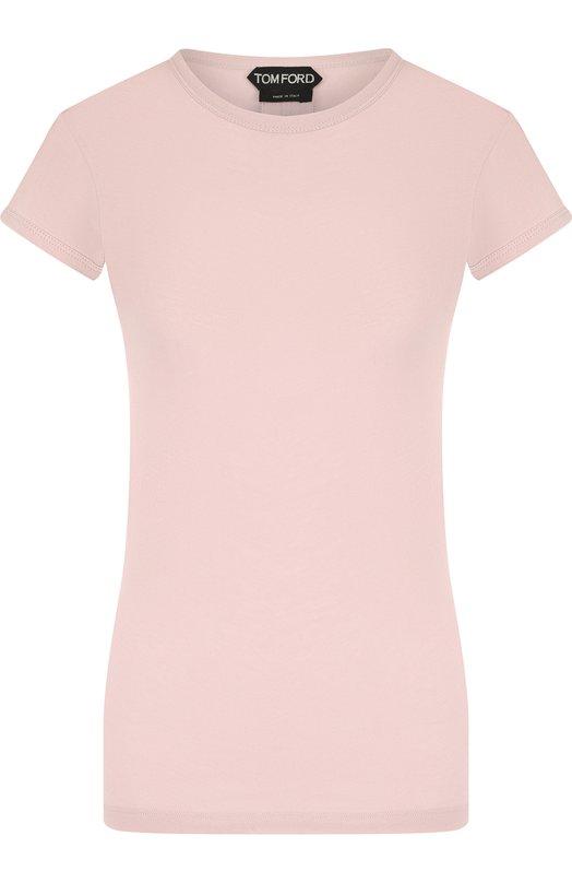 Купить Хлопковая футболка Tom Ford, TSJ295-FAX262, Италия, Розовый, Хлопок: 100%;