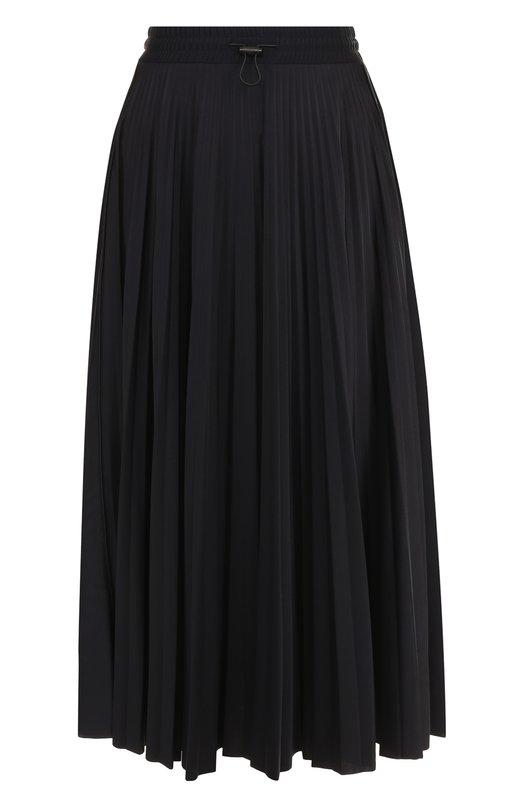 Купить Плиссированная юбка-миди с логотипом бренда Valentino, QB3MD00H4A3, Италия, Черный, Полиамид: 80%; Эластан: 20%;